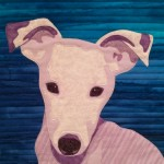 jack russell quilted portrait