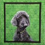 artfully quilted pet portrait